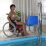 Инвалидни платформи - асансьор за басейни