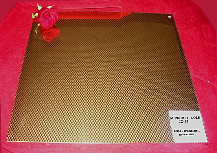 Стени за асансьори - инокс - MIRROR-TI-GOLD-CX-58